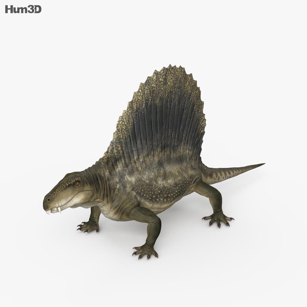Dimetrodon HD 3d model