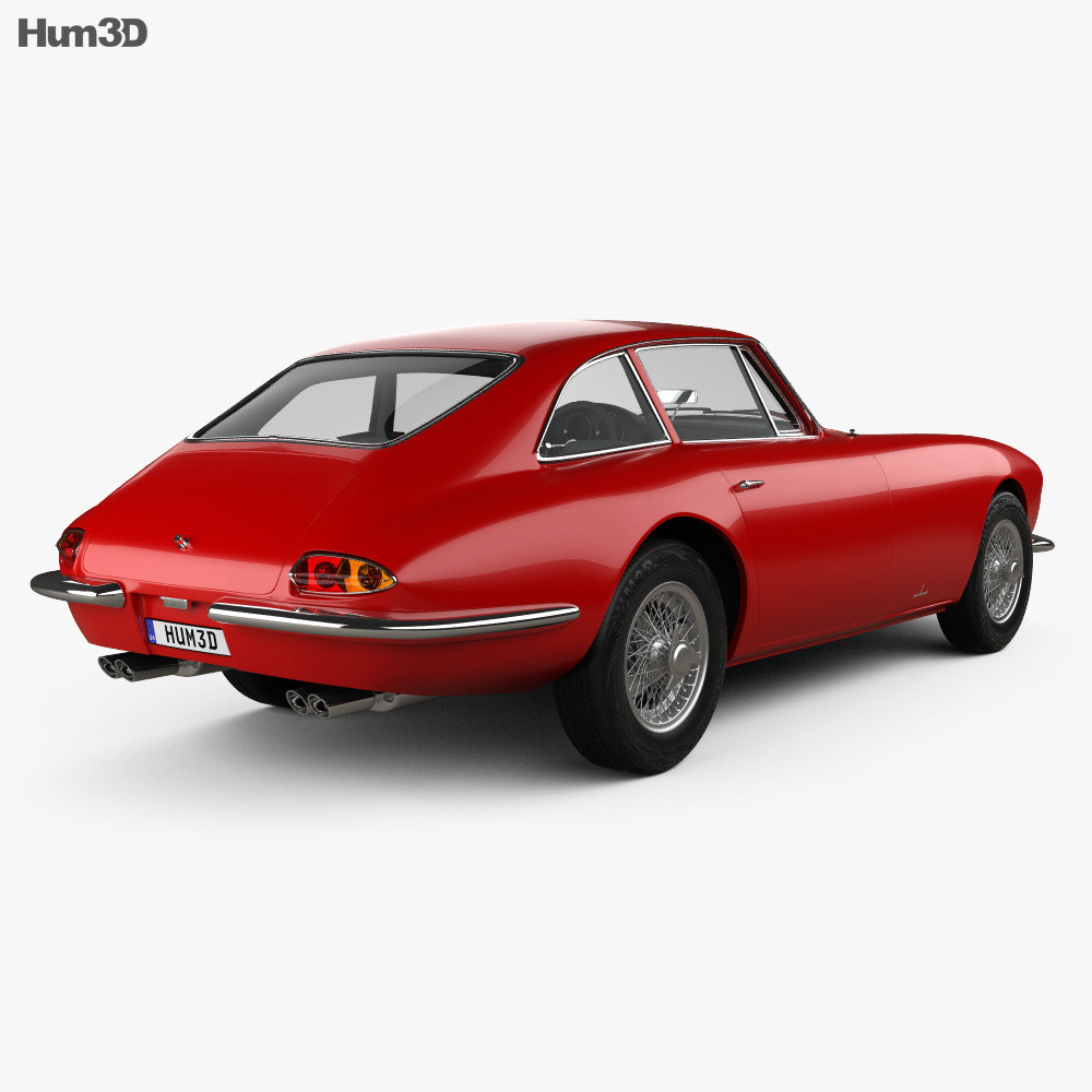 Apollo GT coupe 1965 3d model back view