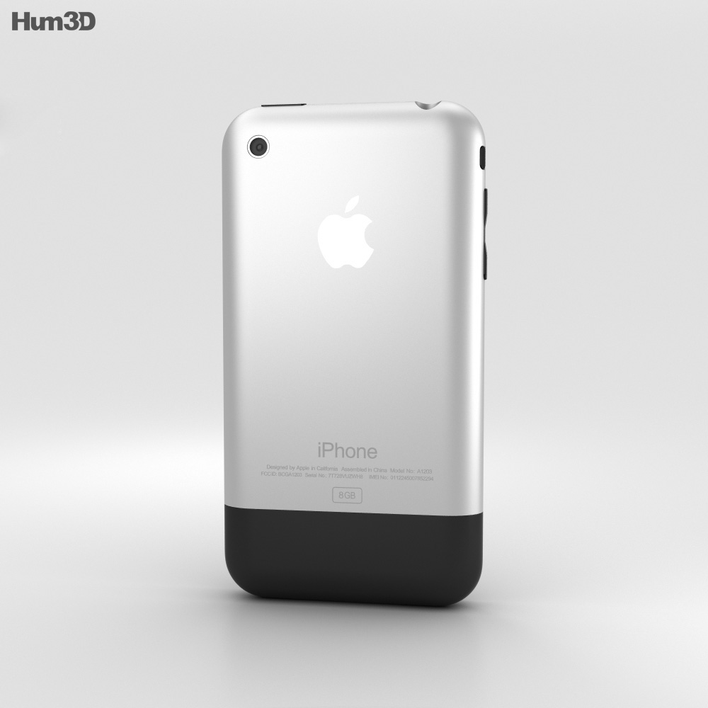 Apple iPhone (1st gen) Black 3d model
