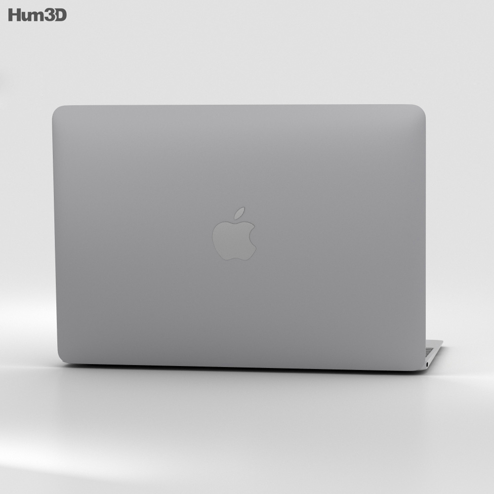 Apple MacBook Space Gray 3d model