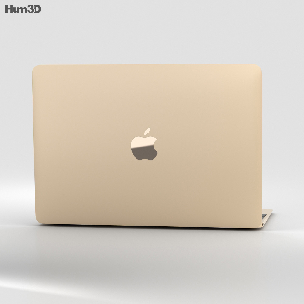 Apple MacBook (2017) Gold 3d model