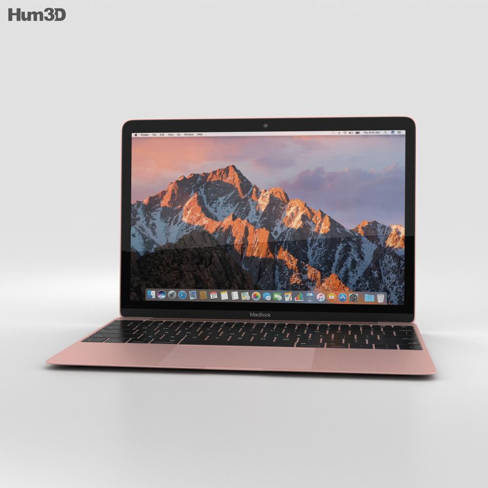 Apple MacBook (2017) Rose Gold 3d model