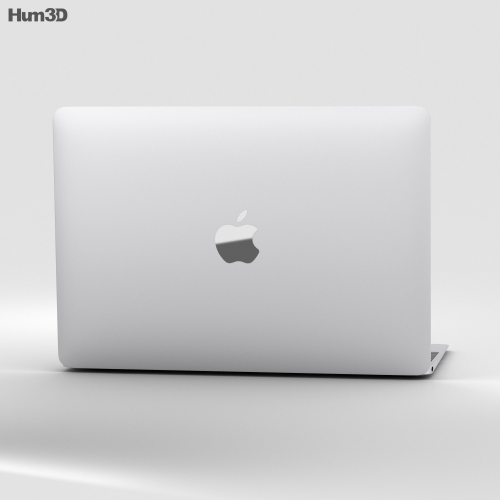 Apple MacBook (2017) Silver 3d model