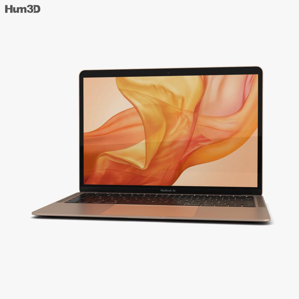 Apple MacBook Air (2018) Gold 3d model