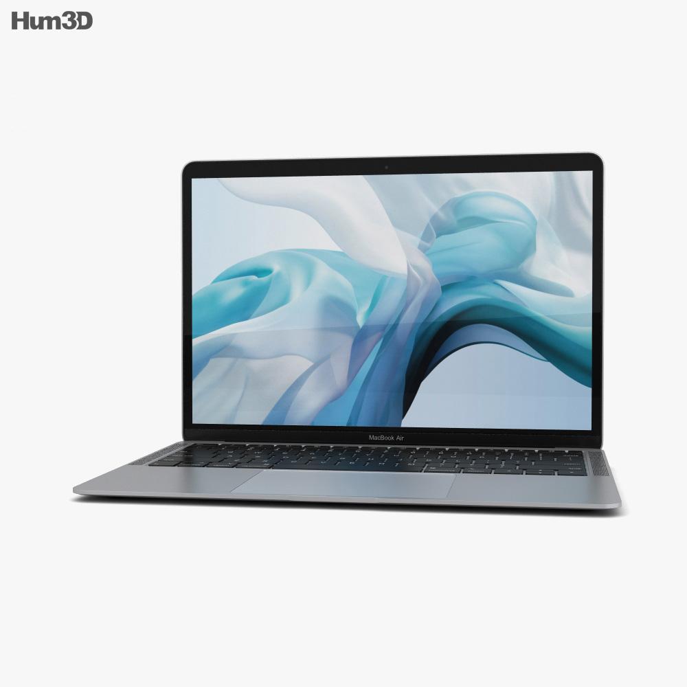 Apple MacBook Air (2018) Silver 3d model