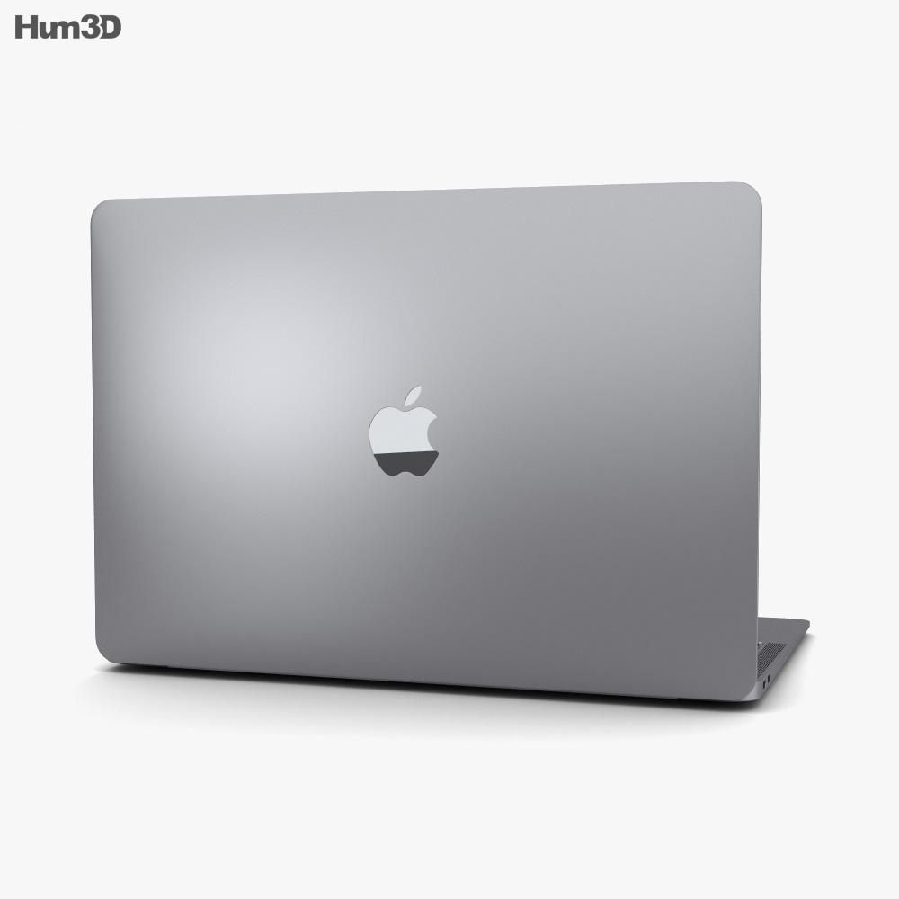 Apple MacBook Air (2018) Space Gray 3d model