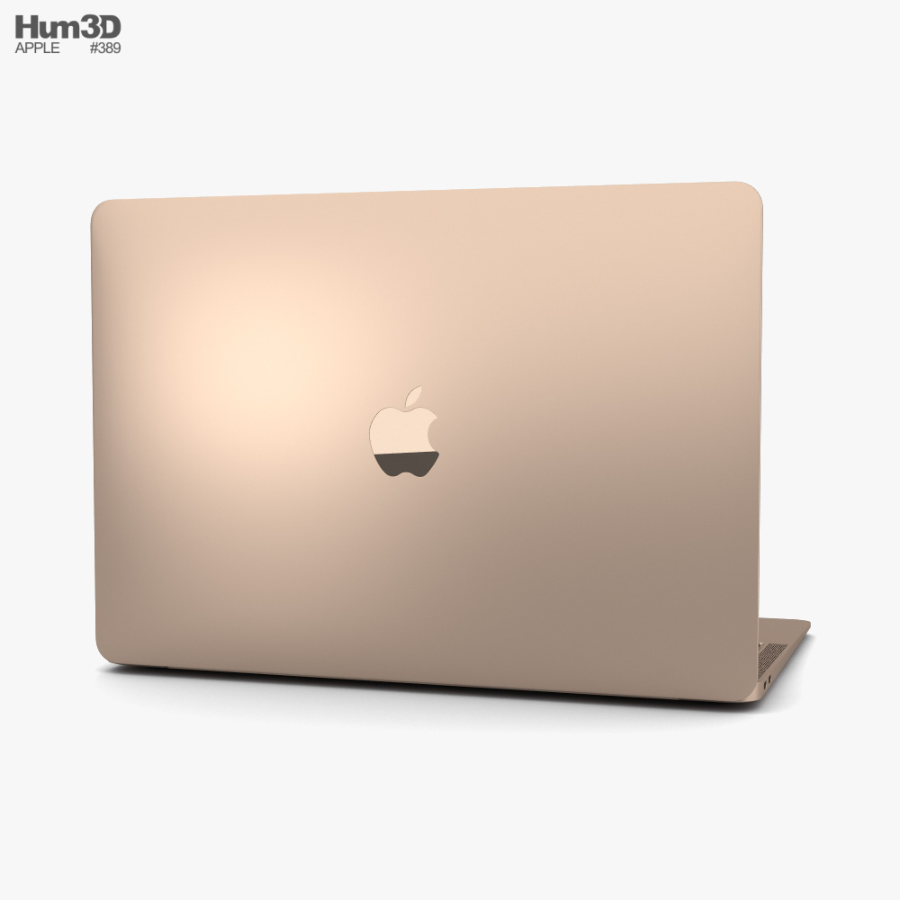Apple MacBook Air (2020) Gold 3d model