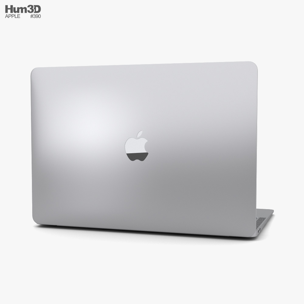 Apple MacBook Air (2020) Silver 3d model
