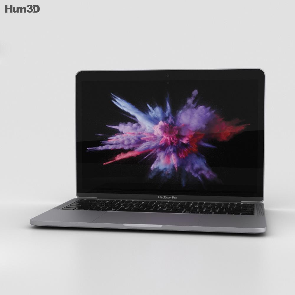 dccf27f1e406 Apple MacBook Pro 13 inch (2016) Space Gray 3D model