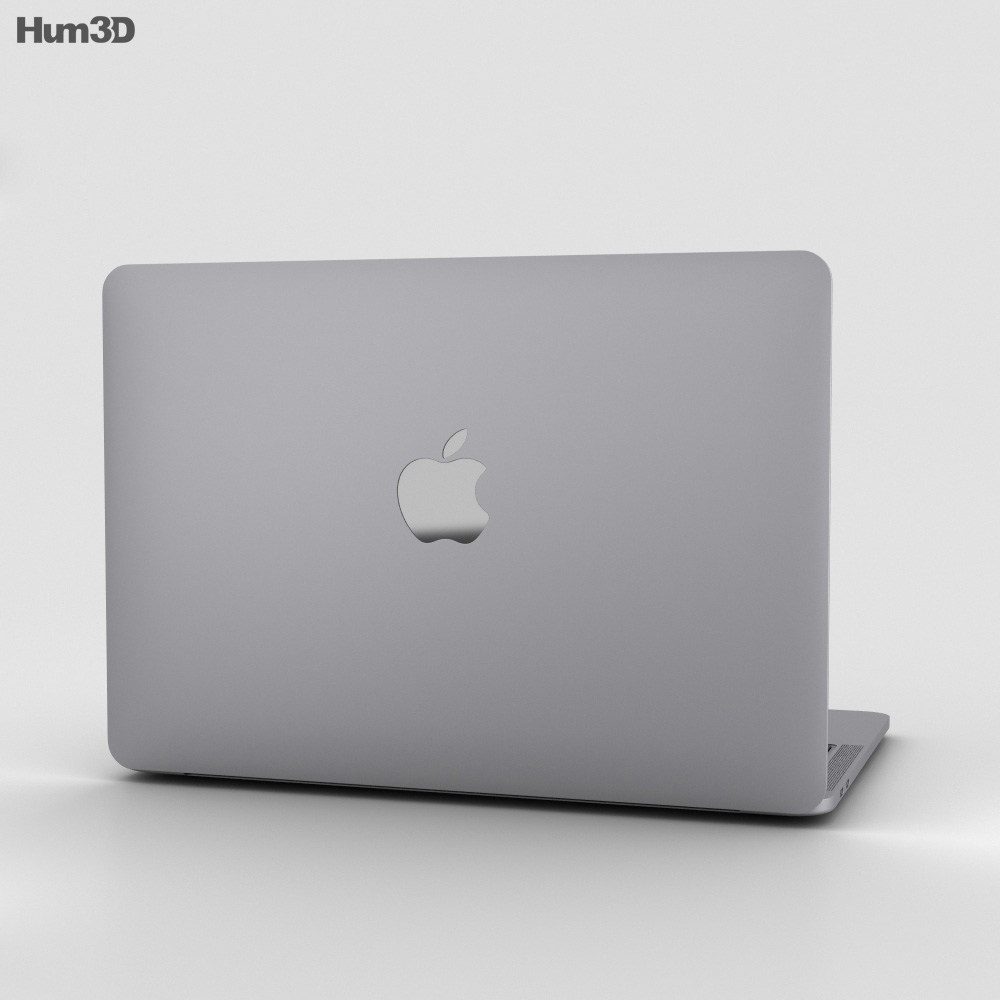 Apple MacBook Pro 13 inch (2016) Space Gray 3d model