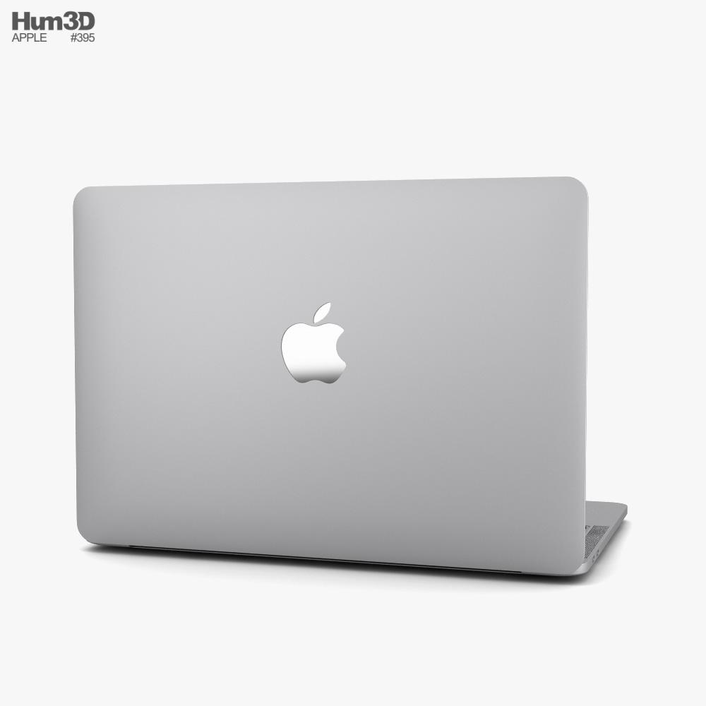 Apple MacBook Pro 13 inch (2020) Silver 3d model