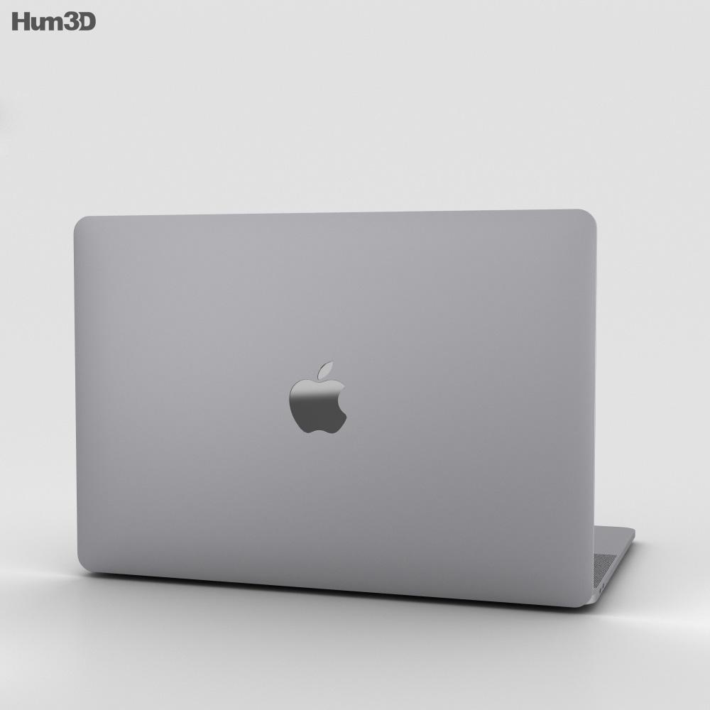 Apple MacBook Pro 15 inch (2016) Space Gray 3d model