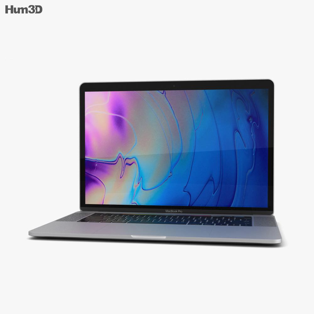 Apple MacBook Pro 15 inch (2018) Silver 3d model