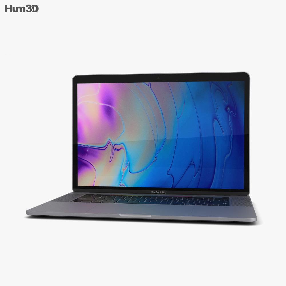 Apple MacBook Pro 15 inch (2018) Space Gray 3d model