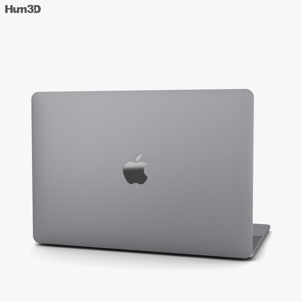 Apple MacBook Pro 15 inch (2018) Space Gray 3d model