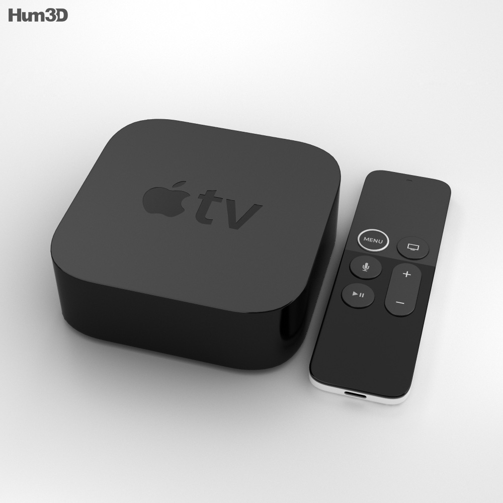 Apple TV 4K 3d model