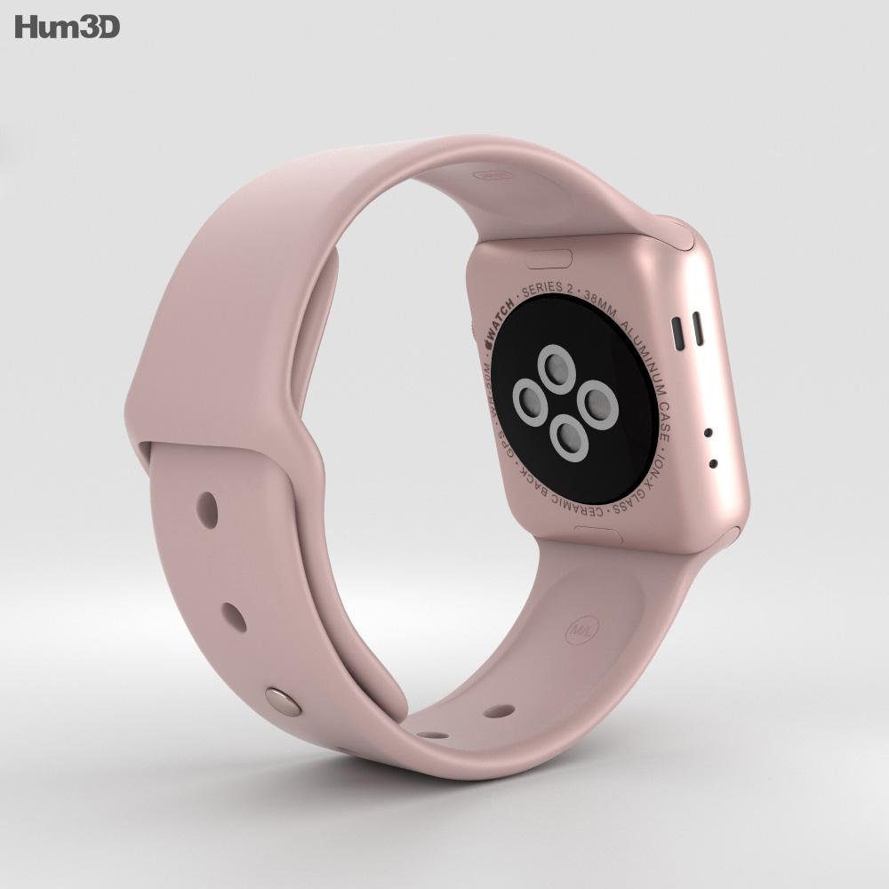 apple watch series 2 38mm rose gold aluminum case pink