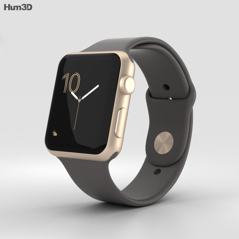 Apple Watch Series 2 42mm Gold Aluminum Case Cocoa Sport