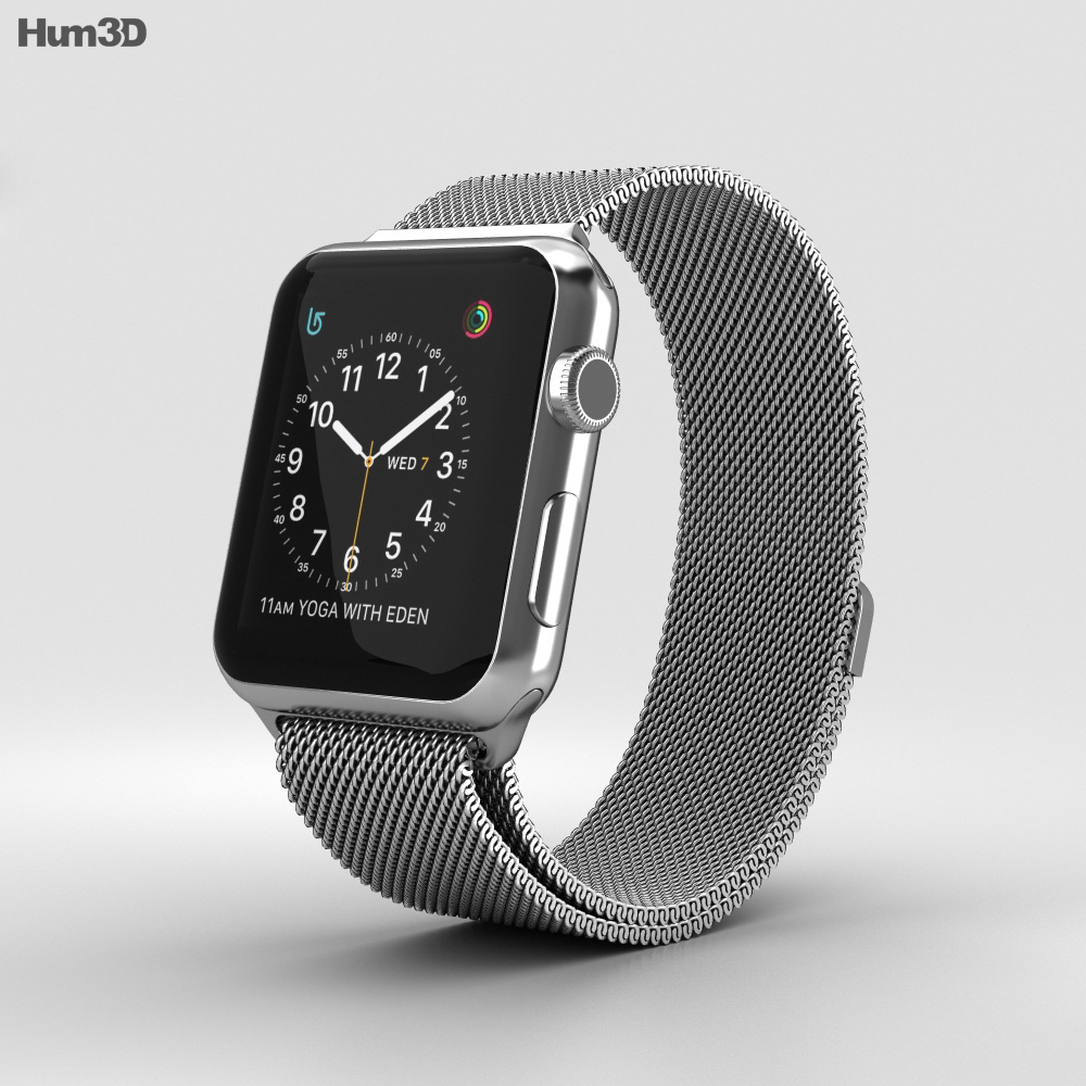 Apple Watch Series 2 42mm Stainless Steel Case Milanese ...
