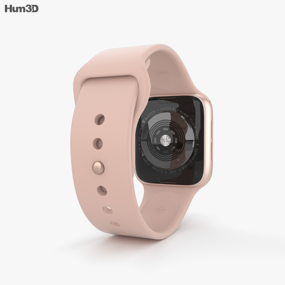 super popular e7eb2 e8219 Apple Watch Series 4 40mm Gold Aluminum Case with Pink Sand Sport Band 3D  model