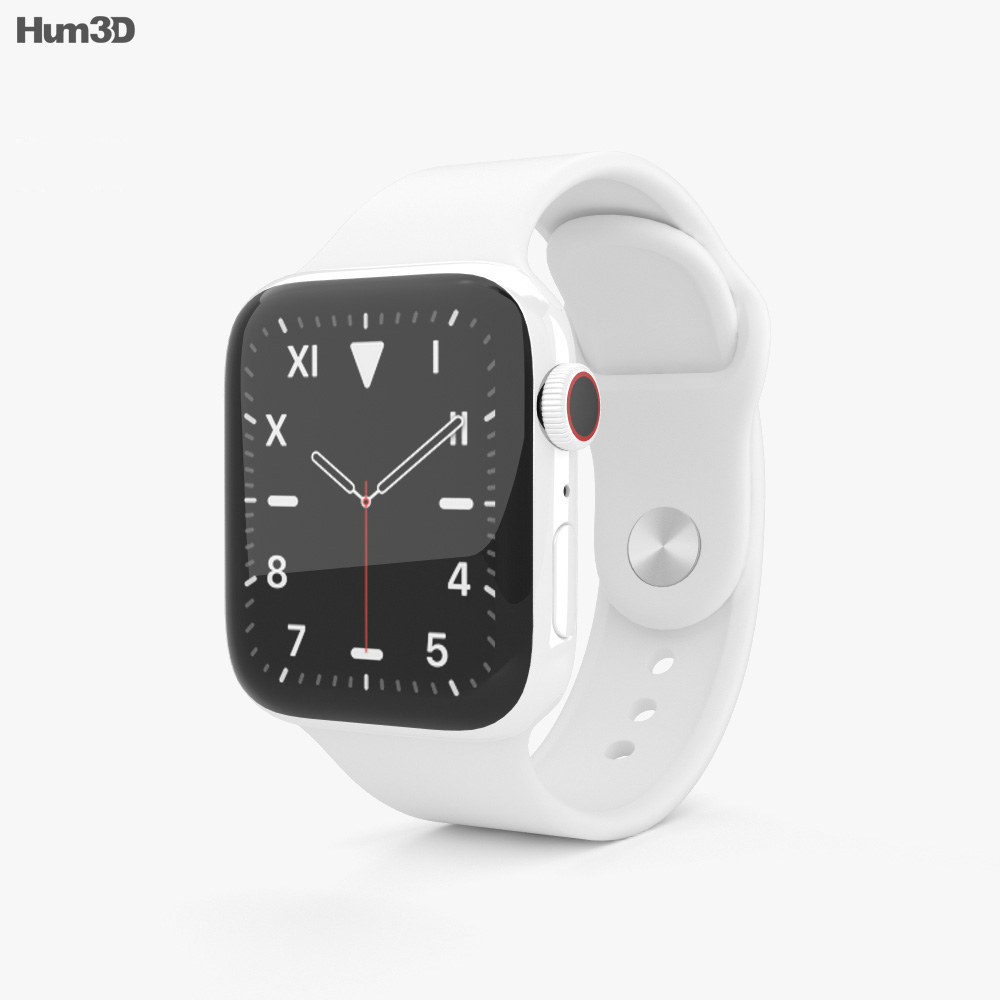 Apple Watch Series 5 40mm Ceramic Case with Sport Band 3d model