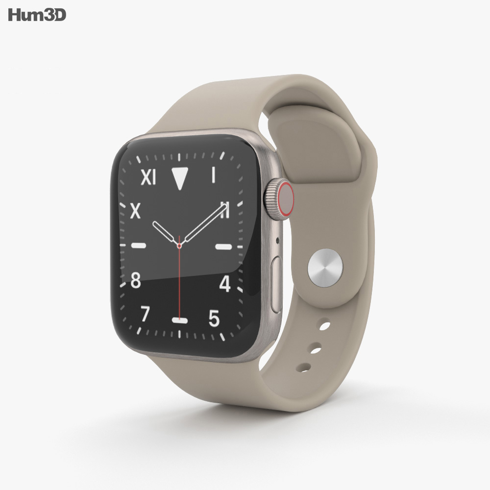 Apple Watch Series 5 40mm Titanium Case with Sport Band 3d model