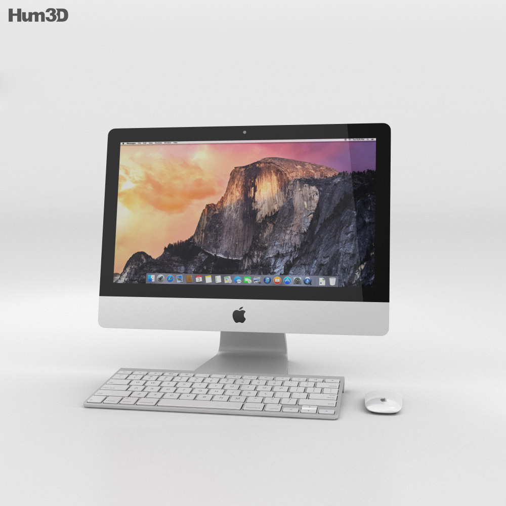 Apple iMac 21.5-inch 2014 3d model