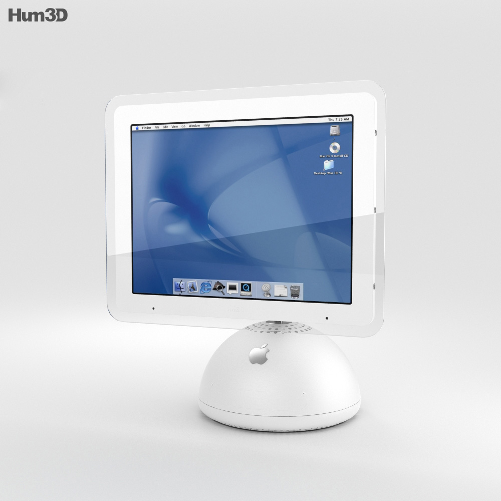 Apple iMac G4 2002 3d model