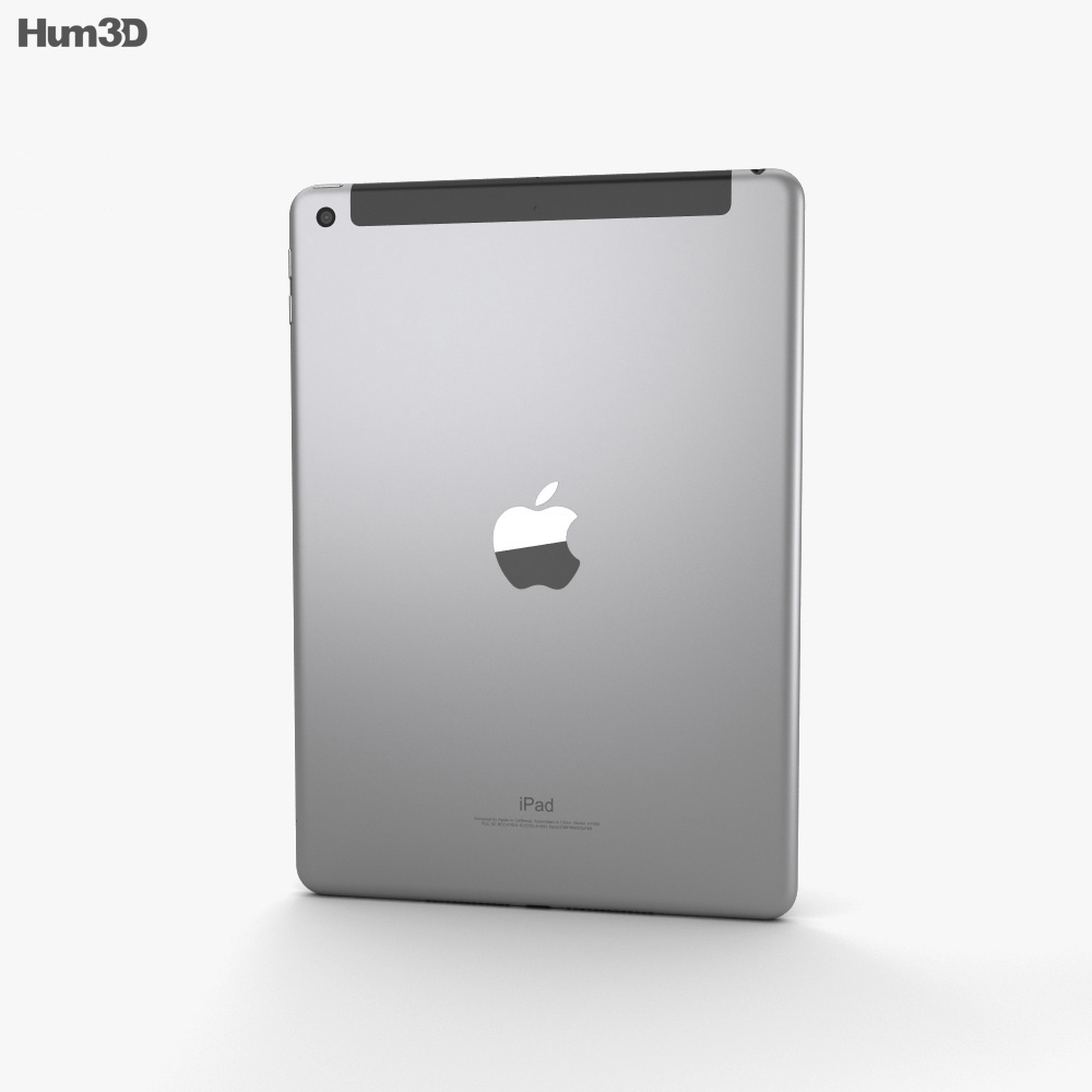 Apple iPad 9.7-inch (2018) Cellular Space Gray 3d model