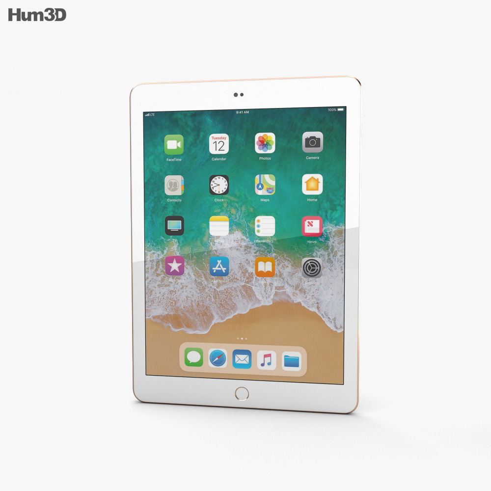 Apple iPad 9.7-inch (2018) Gold 3d model
