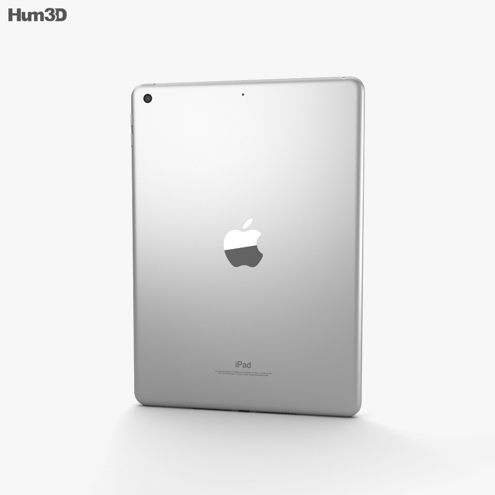 Apple iPad 9.7-inch (2018) Silver 3d model