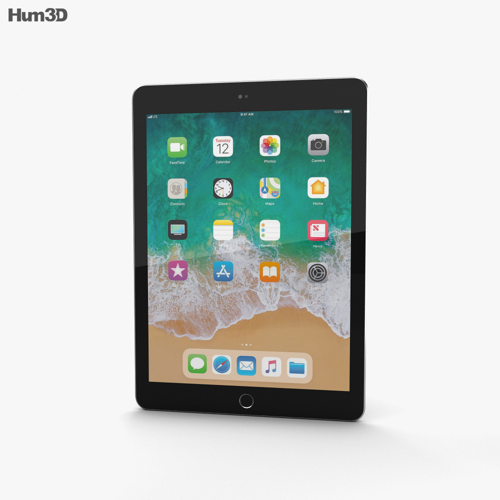 Apple iPad 9.7-inch (2018) Space Gray 3d model