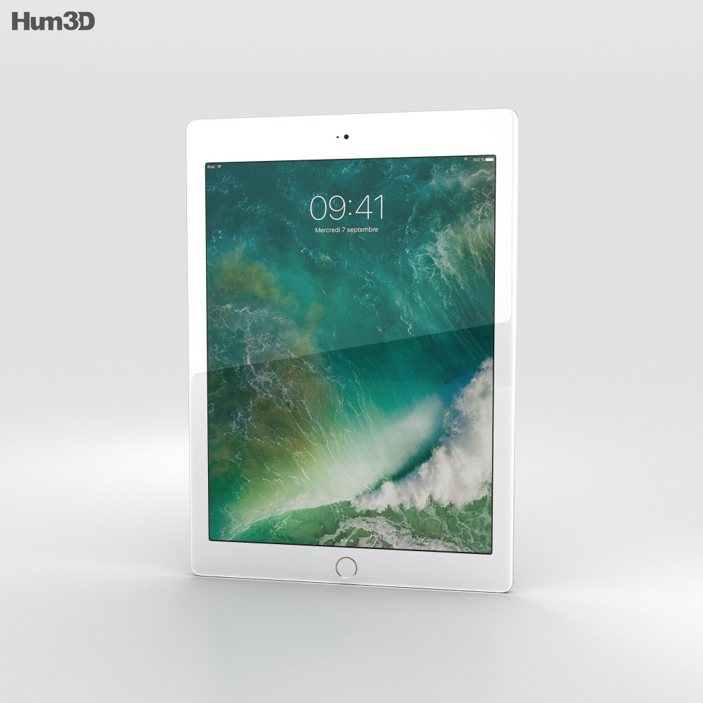 Apple iPad 9.7-inch Cellular Gold 3d model