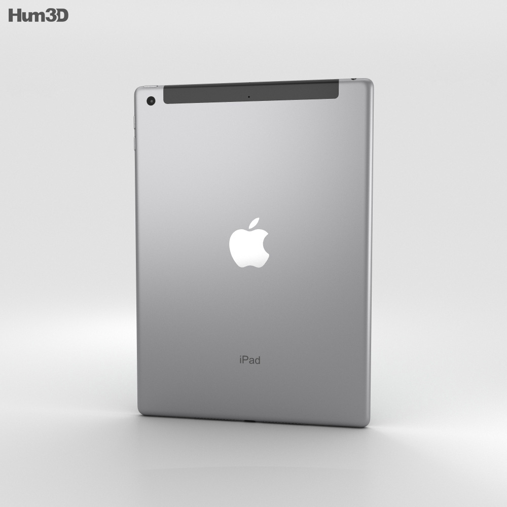 Apple iPad 9.7-inch Cellular Space Gray 3d model