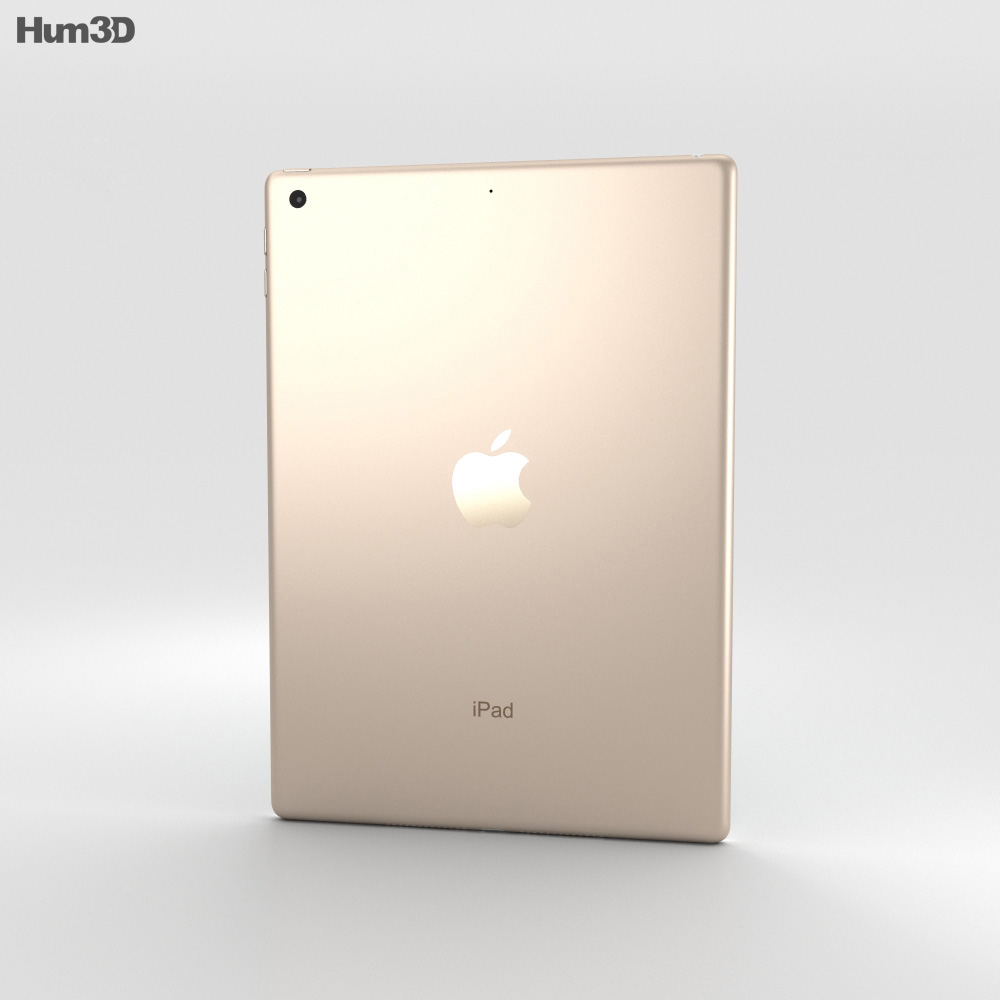 Apple iPad 9.7-inch Gold 3d model