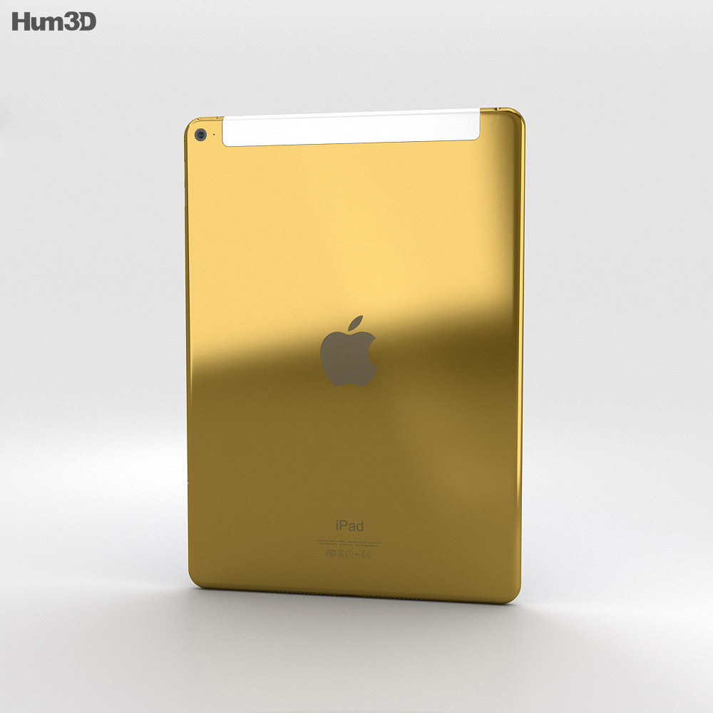Apple iPad Air 2 Cellular 24K Gold 3d model