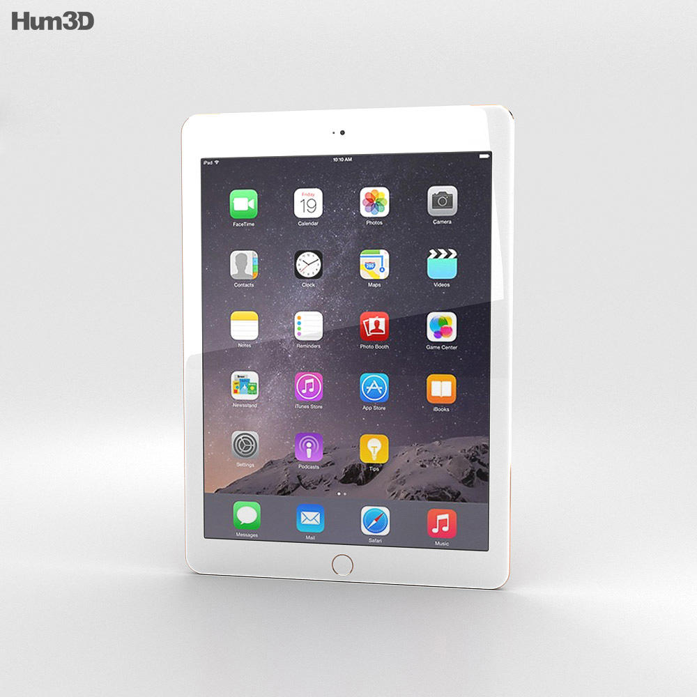 Apple iPad Air 2 Cellular Gold 3d model