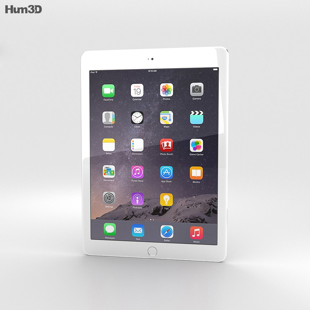 Apple iPad Air 2 Cellular Silver 3d model