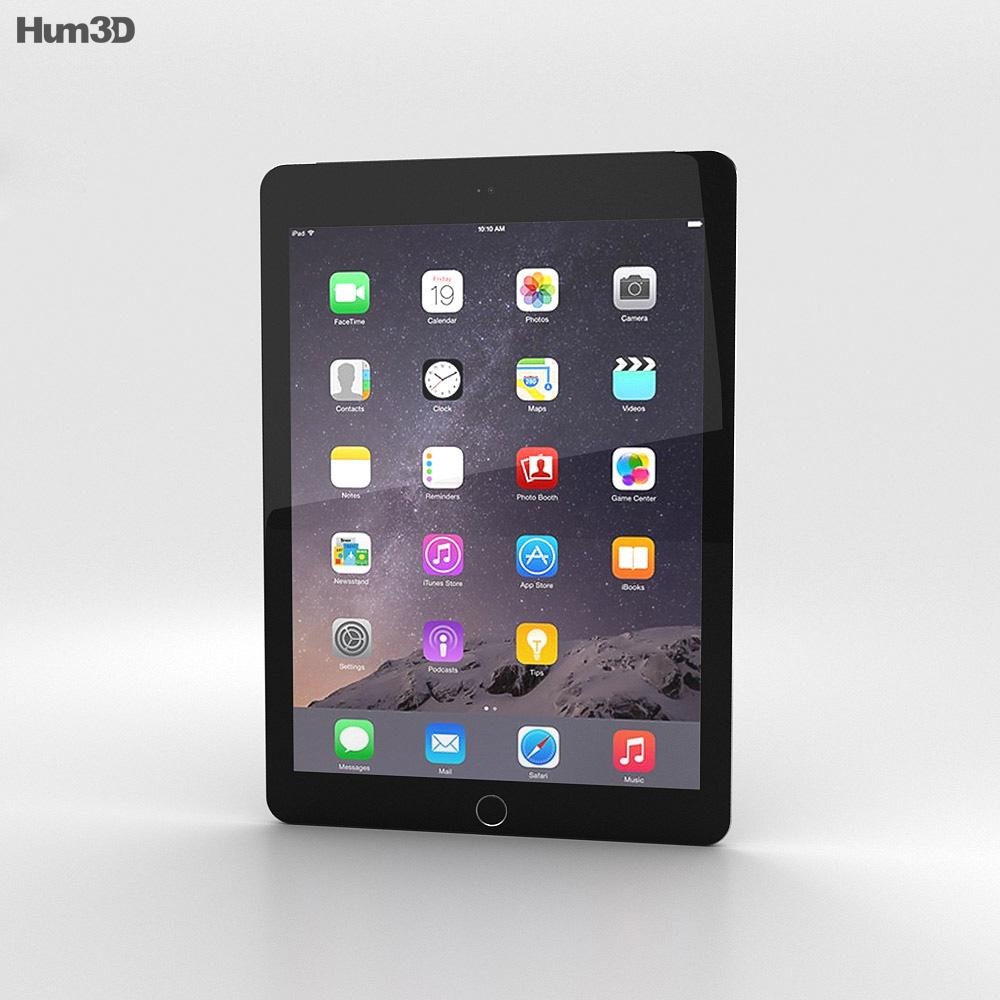 Apple iPad Air 2 Cellular Space Grey 3d model