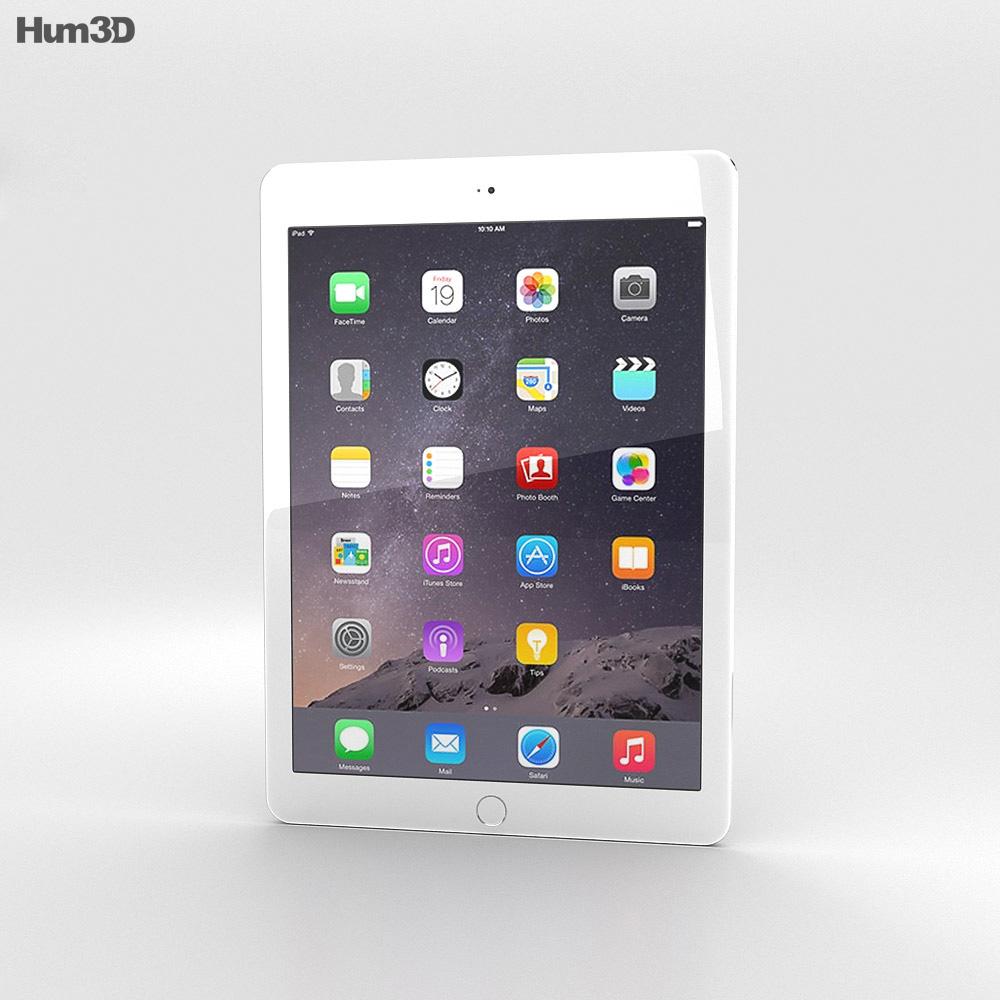 Apple iPad Air 2 Silver 3D model - Humster3D
