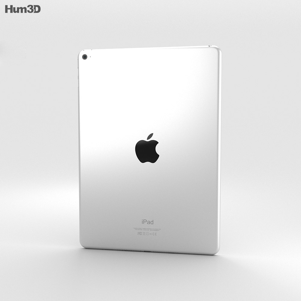 Apple iPad Air 2 Silver 3d model