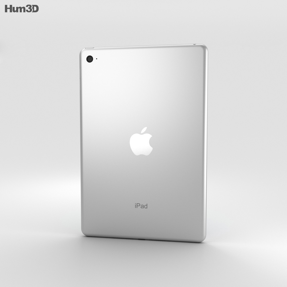 Apple iPad Mini 4 Silver 3d model