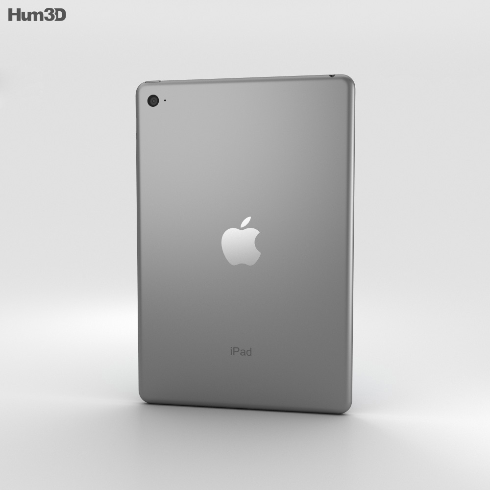 Apple iPad Mini 4 Space Gray 3d model