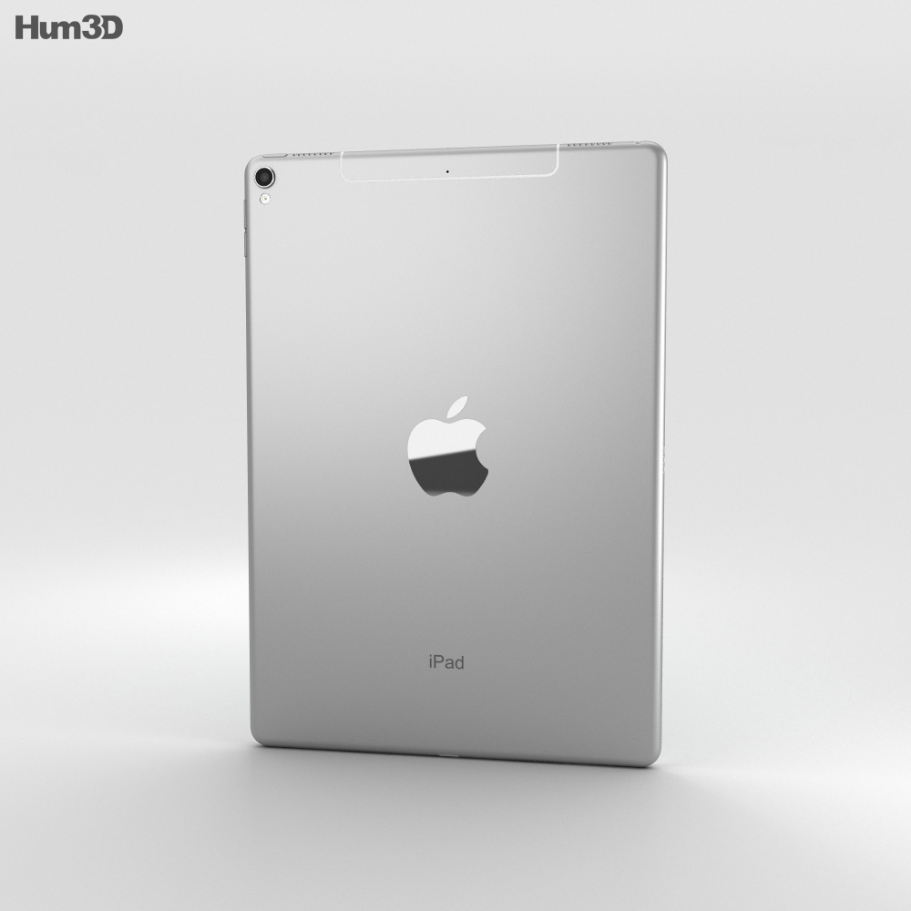 Apple iPad Pro 10.5-inch (2017) Cellular Silver 3d model