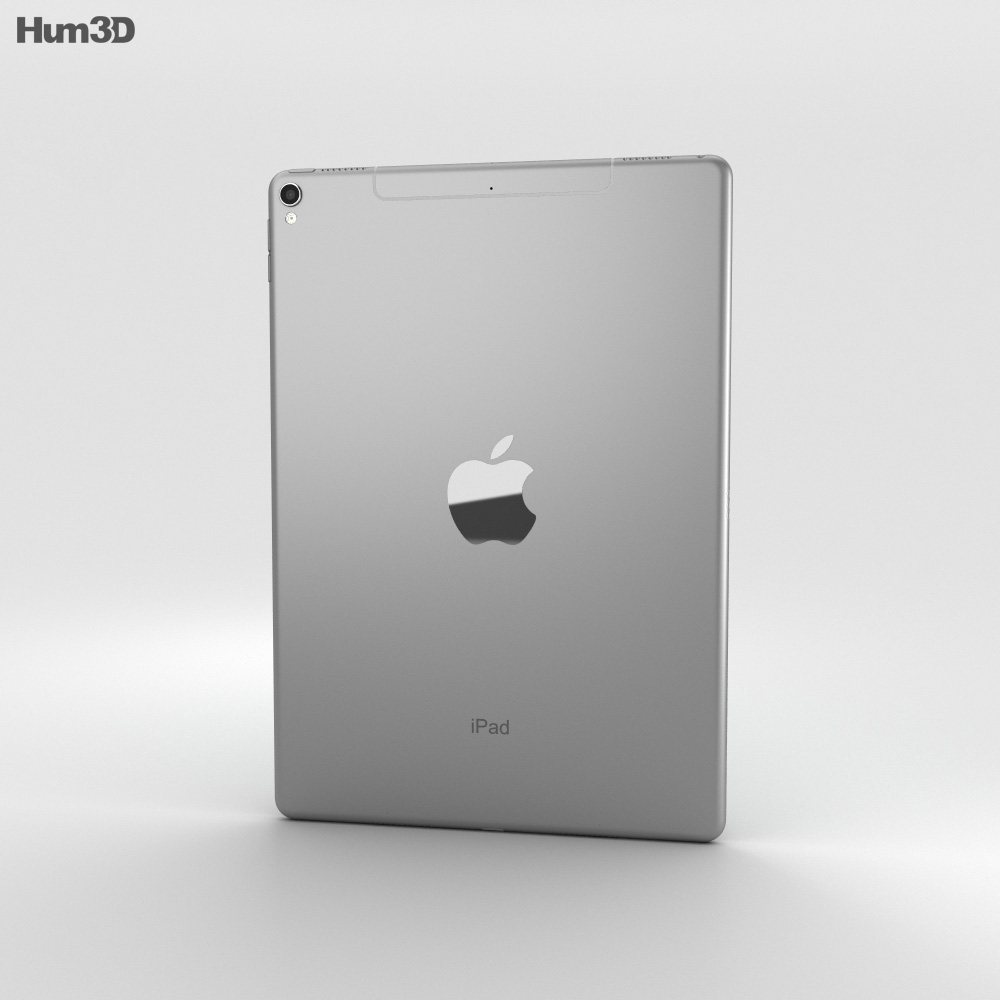 Apple iPad Pro 10.5-inch (2017) Cellular Space Gray 3d model