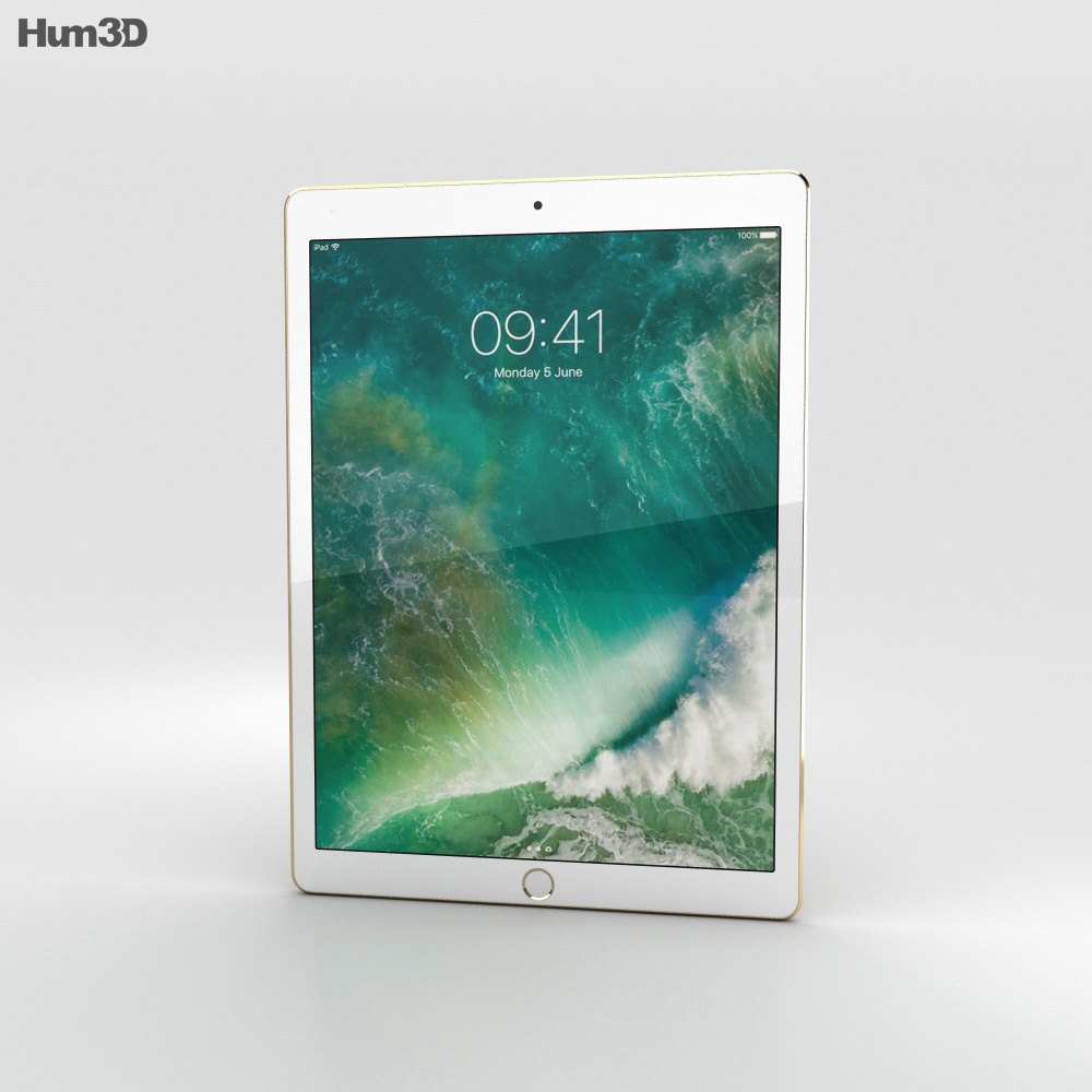 Apple iPad Pro 12.9-inch (2017) Cellular Gold 3d model