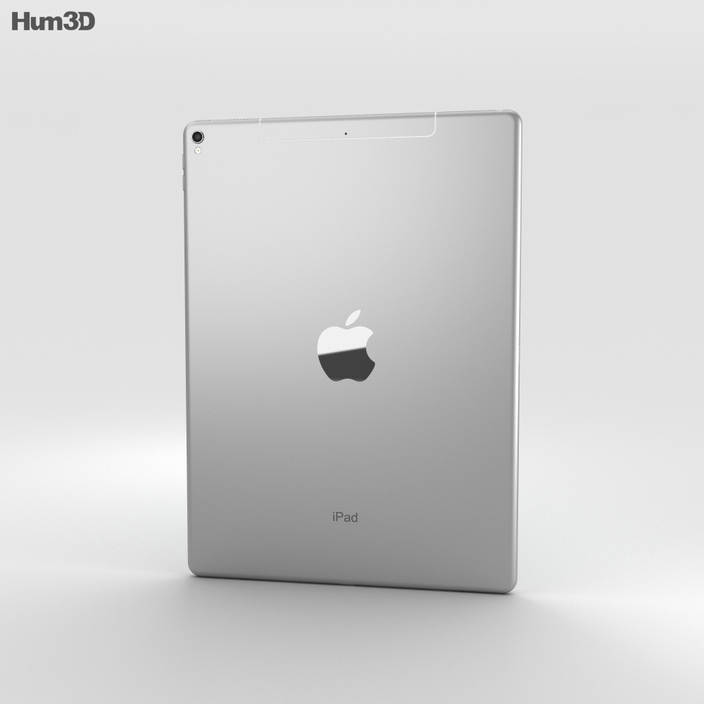 Apple iPad Pro 12.9-inch (2017) Cellular Silver 3d model