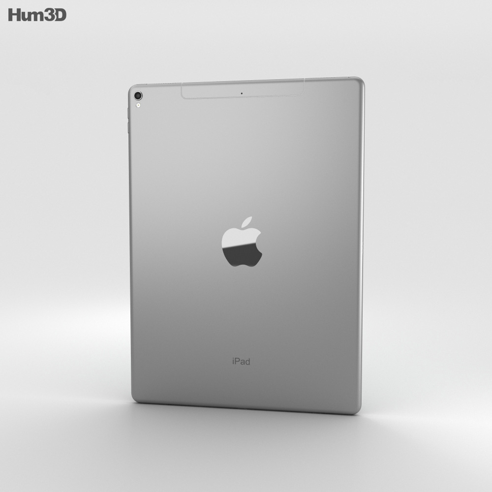 Apple iPad Pro 12.9-inch (2017) Cellular Space Gray 3d model