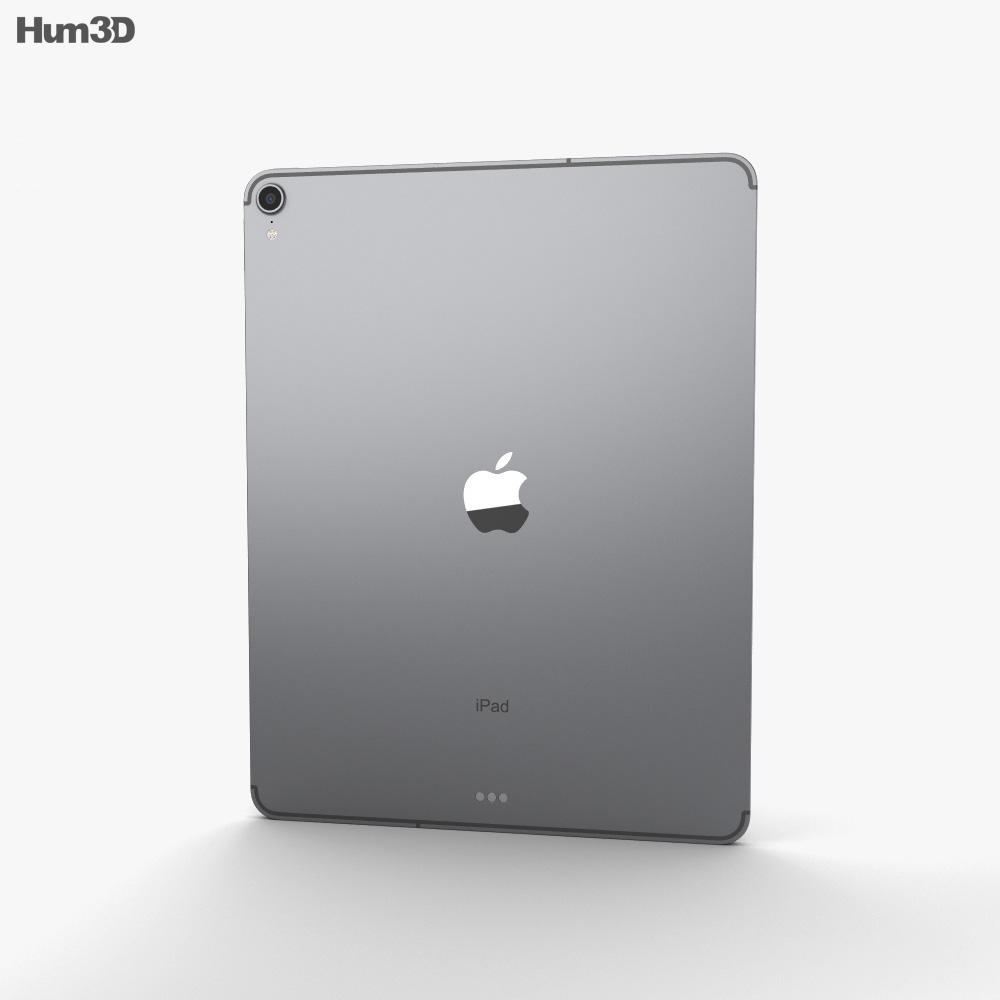 Apple iPad Pro 12.9-inch (2018) Space Gray 3D model ...
