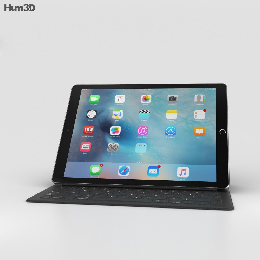 Apple ipad pro space gray 3d model humster3d for 3d room design ipad